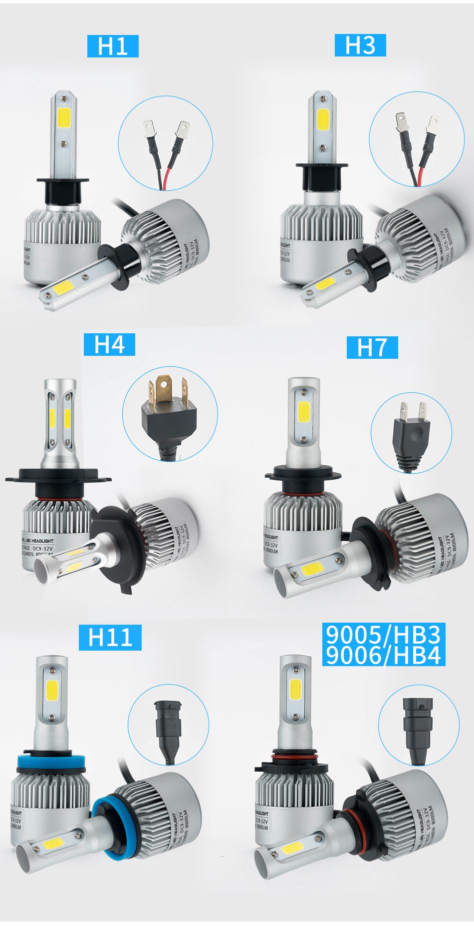 h1 h7 led scheinwerfer birnen headlight leuchte lampen headlight paar 100w ebay. Black Bedroom Furniture Sets. Home Design Ideas