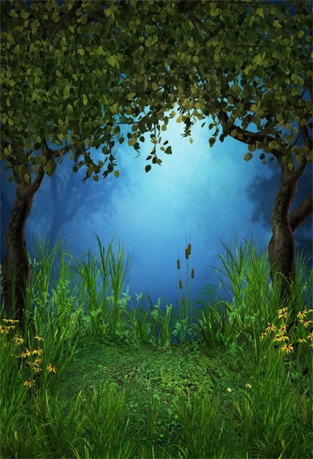 Nature Landscape Flowers Tree Photography Backdrops Photo Props Studio Background 5x7ft