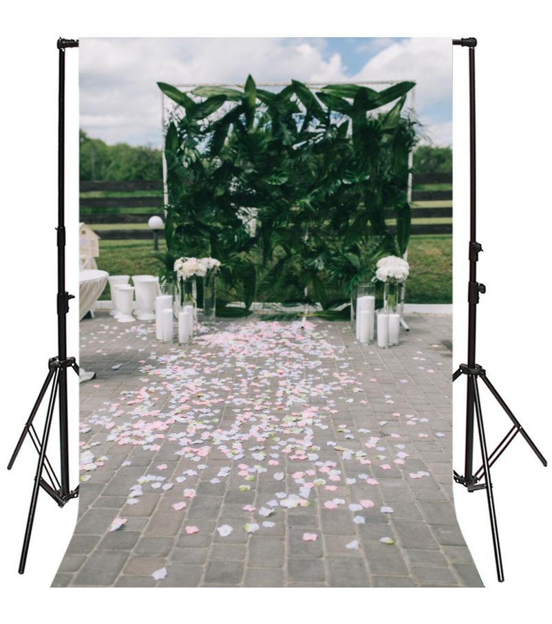 White Petal Wedding Vinyl Photography Studio Backdrop Prop Photo