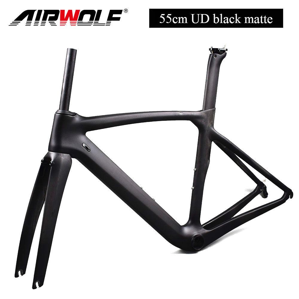 Carbon Rennrad Rahmen 55cm UD Black Matte Fahrrad Frameset+Gabel+ ...