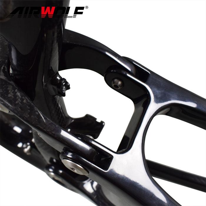 29er 19 Carbon Mountainbike Suspension Fahrradrahmen 3K Twill MTB ...