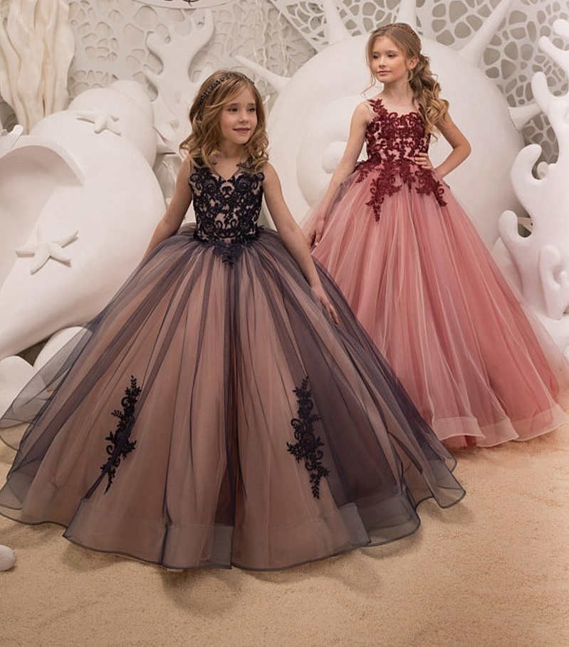 Princess Flower Girl Dress Kid/'s Wedding Communion Formal Gown Dresses Party