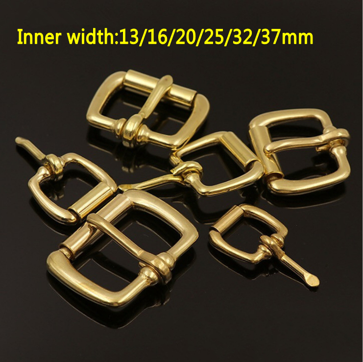 Leather Craft DIY Pure Brass Luggage Bag Roller Needle Buckle 13mm~37mm Tool