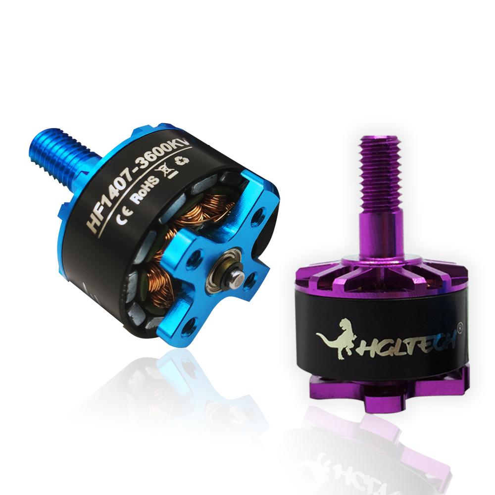8569f371717ef2 1-4pcs HGLRC Flame 1407 Brushless Motor 3600KV 3-4S Purple Blue For Drone  Quad