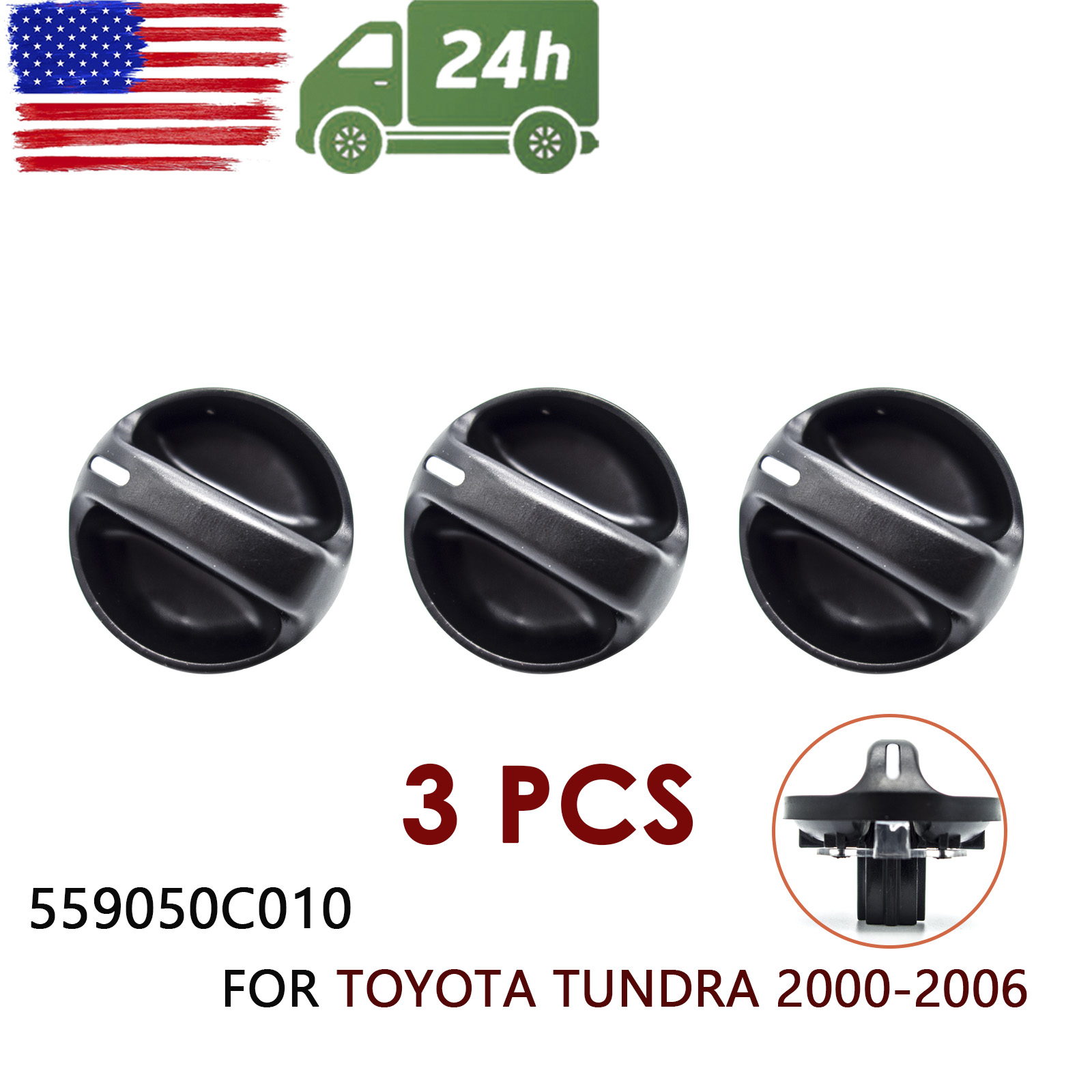 559050C010 Control Knob Heater A//C Air Condition Fan For Toyota Tundra 2000-2006