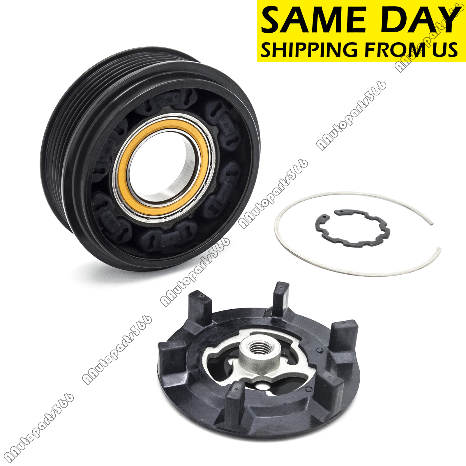 A//C AC Compressor Clutch Kit Fit For Mercedes C240 C320 Models W//6 Groove Pulley