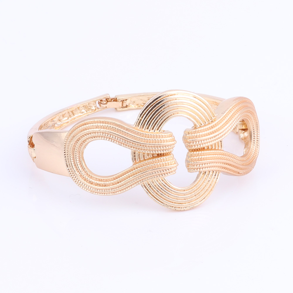 New-Design-Statement-Earings-Necklace-Bangle-Ring-Women-Gold-Plated-Jewelry-Set thumbnail 21