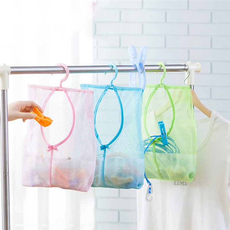 Charmant Hanging Mesh Storage Bag Clothes Toys Organizer Laundry Hook Underwear  Kitchen