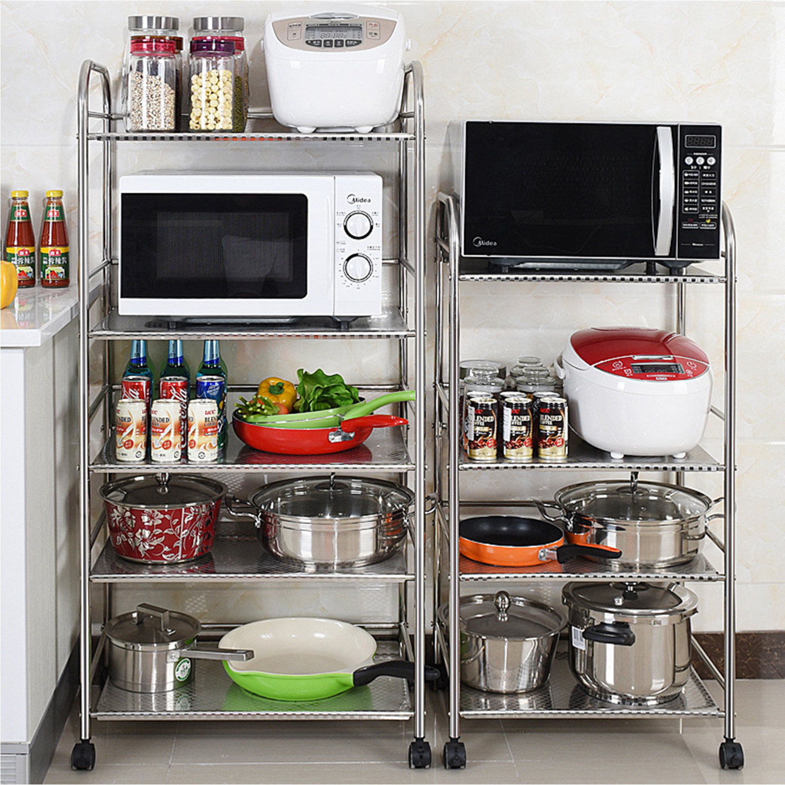 1/2/3/4 Tier Kitchen Baker's Microwave Oven Stand Storage Cart ... on kitchen pot racks, kitchen sink racks, kitchen slide out racks, kitchen pantry racks, kitchen pan storage racks,