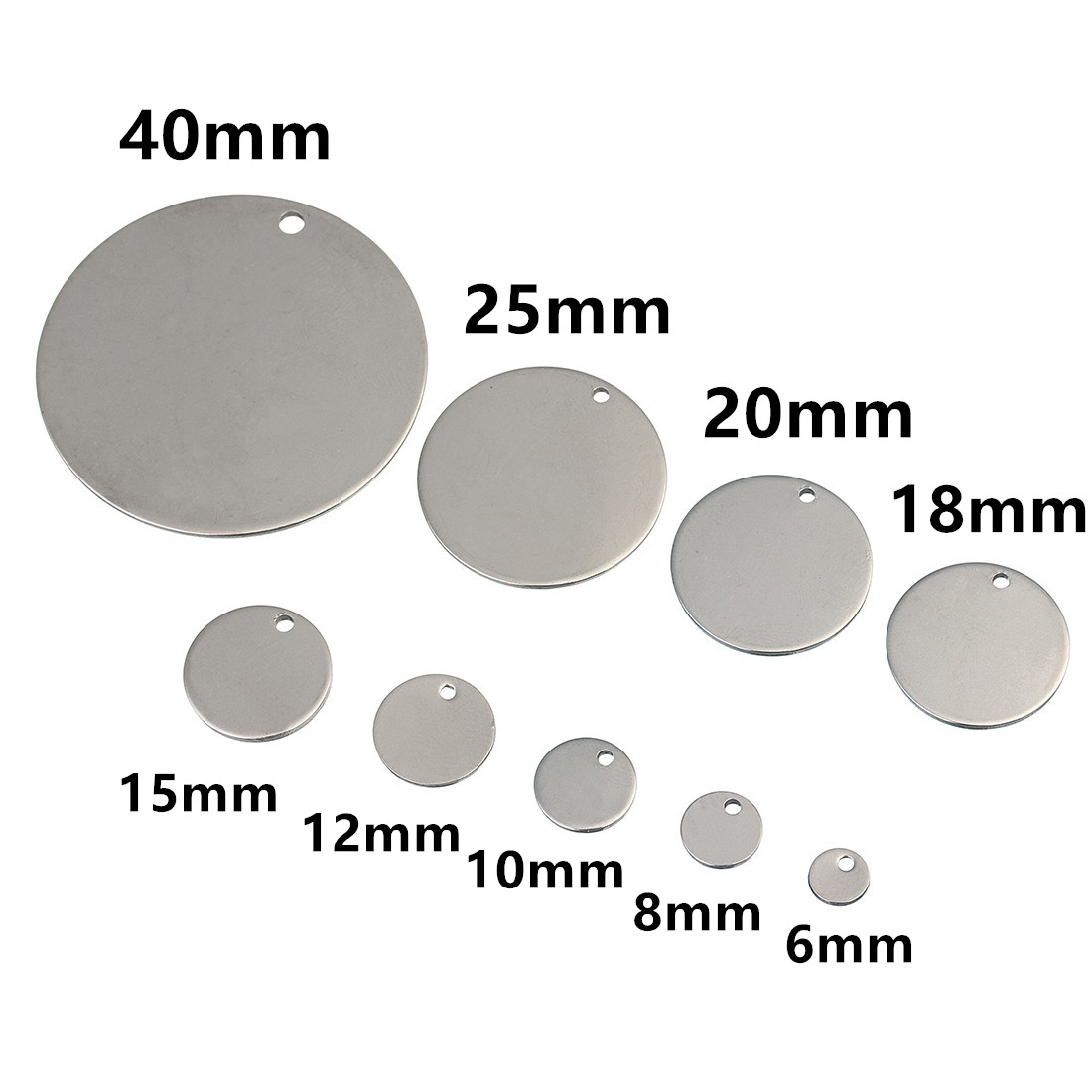 MADE FOR YOU Charm Tags OVAL Nickel 12mm