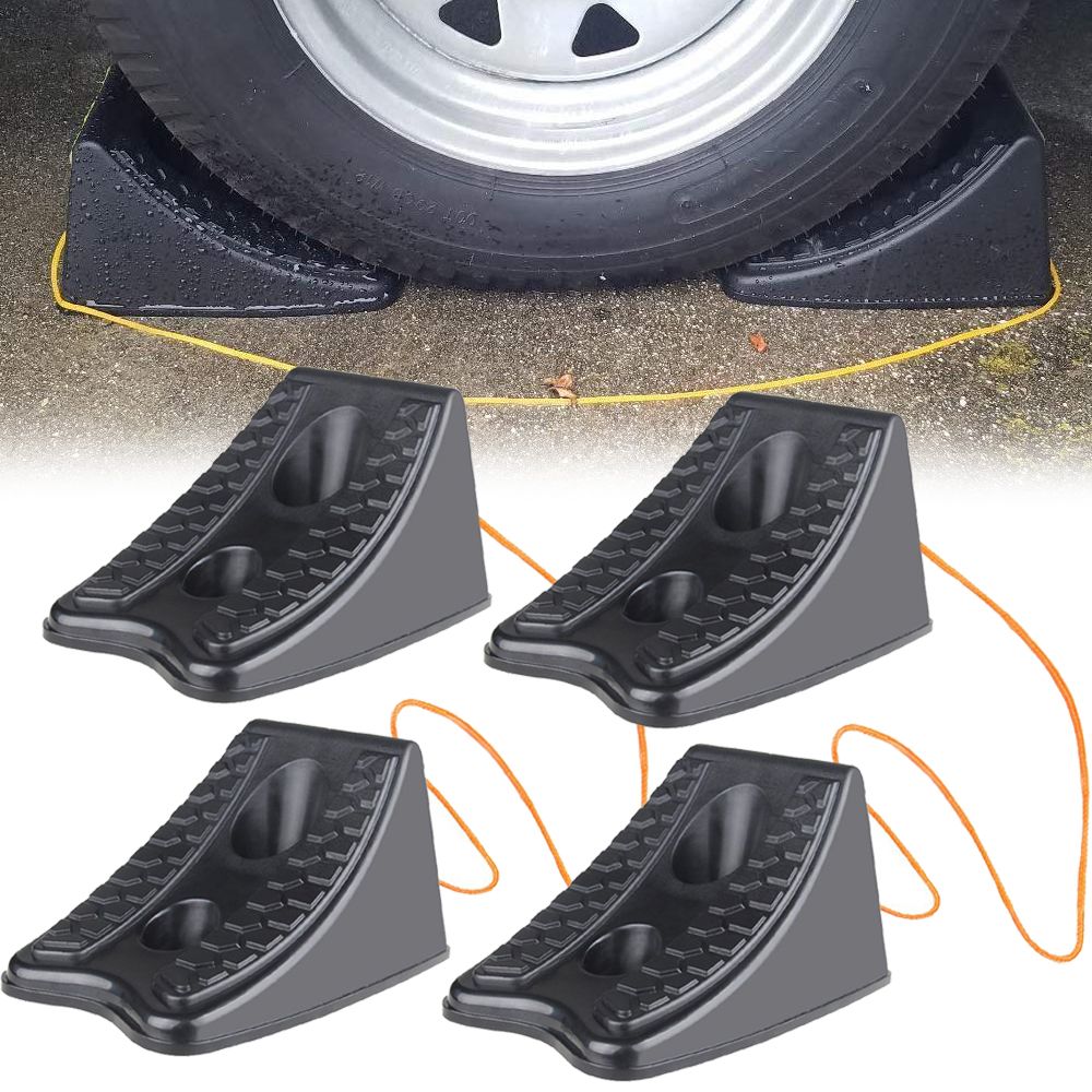 Trailer Wheel Chocks >> Details About 4 Pack Wheel Chocks Car Truck Rv Camper Trailer Tire Stoppers