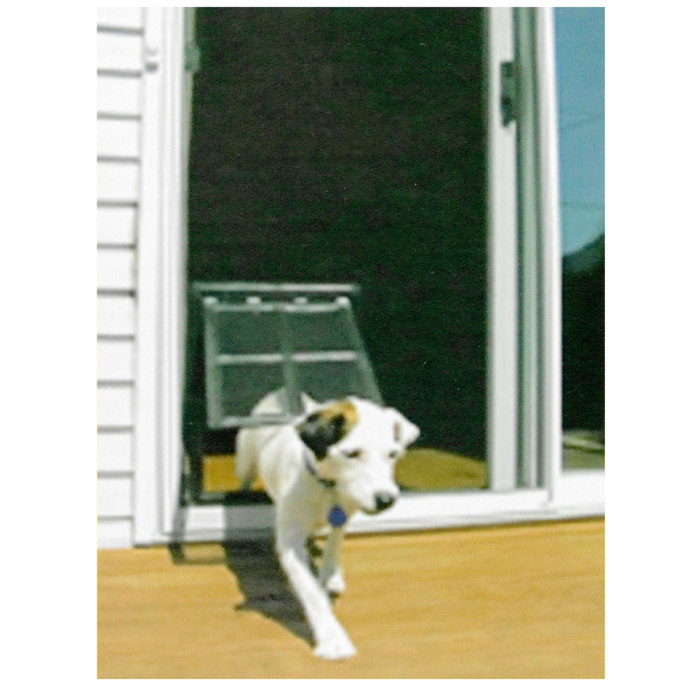 Safe Easy Screen Lockable Magnet Position Pet Door For Medium And