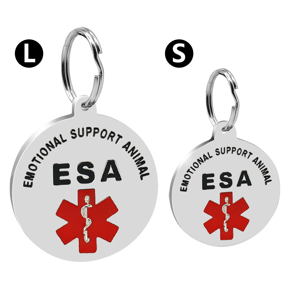 Stainless Steel Emotional Support Esa Personalized Dog Tag