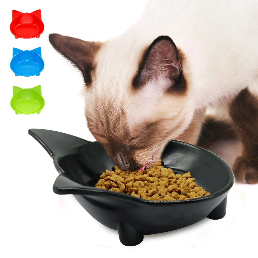 Cat Food Bowls Ceramic Cat Shaped Pet Dog Water Bowl