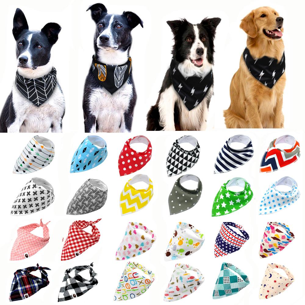 Dog Collar Bandana Style Dog Bandanas Cotton Washable Pet Bandanas Scarf Bow ties Collar Cat L dog Scarf Dog Accessories 3