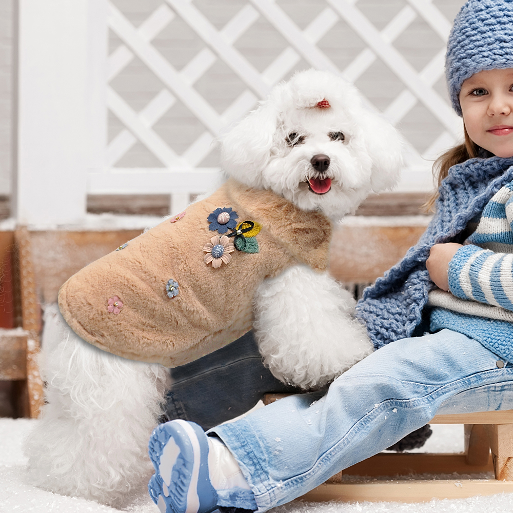 hundemantel hunde kleidung hundejacke wintermantel weiches vlies wei s xxl ebay. Black Bedroom Furniture Sets. Home Design Ideas