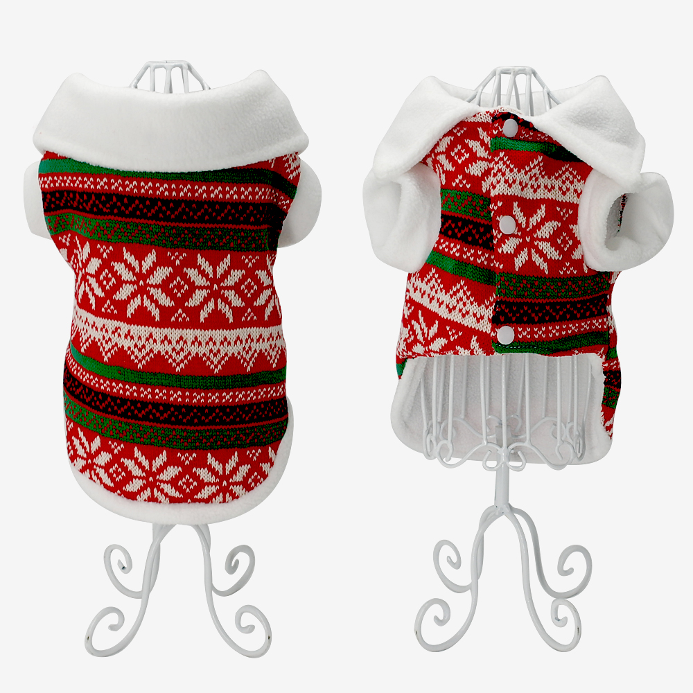 Dog Christmas Sweater.Details About Knitted Pet Dog Christmas Sweater Cost Jacket Clothes Pet Puppy Apparel Blue Red