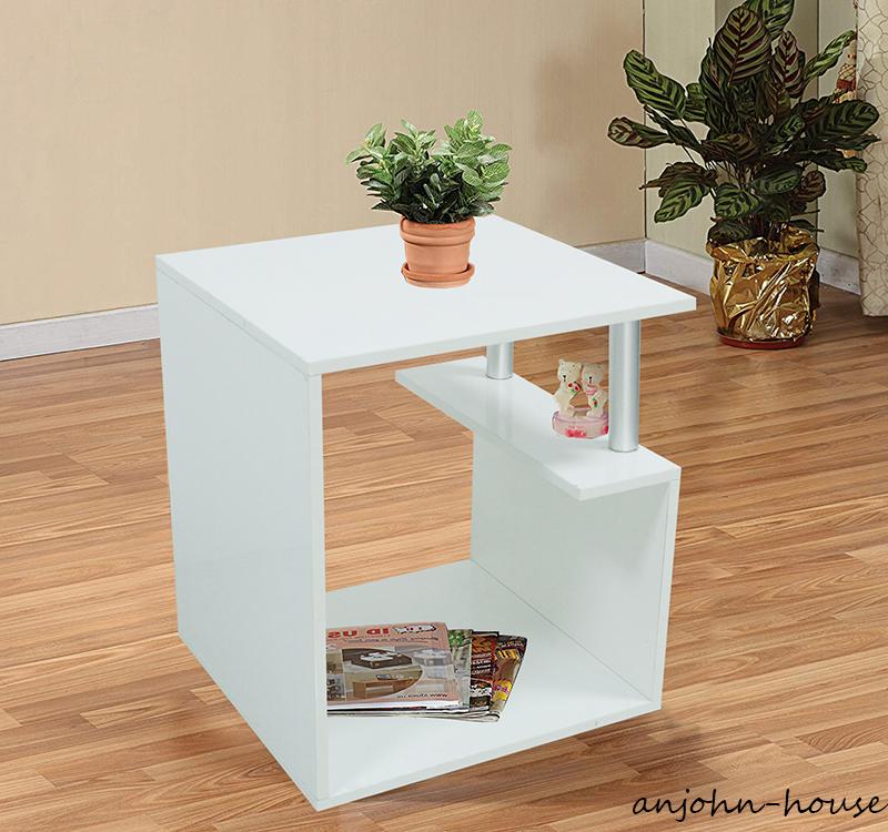 Led High Gloss White Coffee Table Living Room Modern Furniture Unit