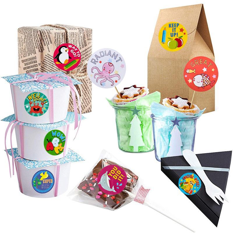 500* Cartoon Animal Cute Rewards Labels Thank You Stickers Kids Teacher Toys
