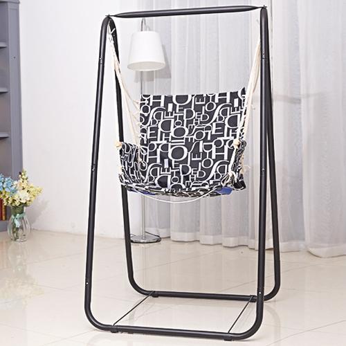 Child Hammock Stand Chair Kid Swing Seat Indoor Outdoor Garden Yard Hanging Rope
