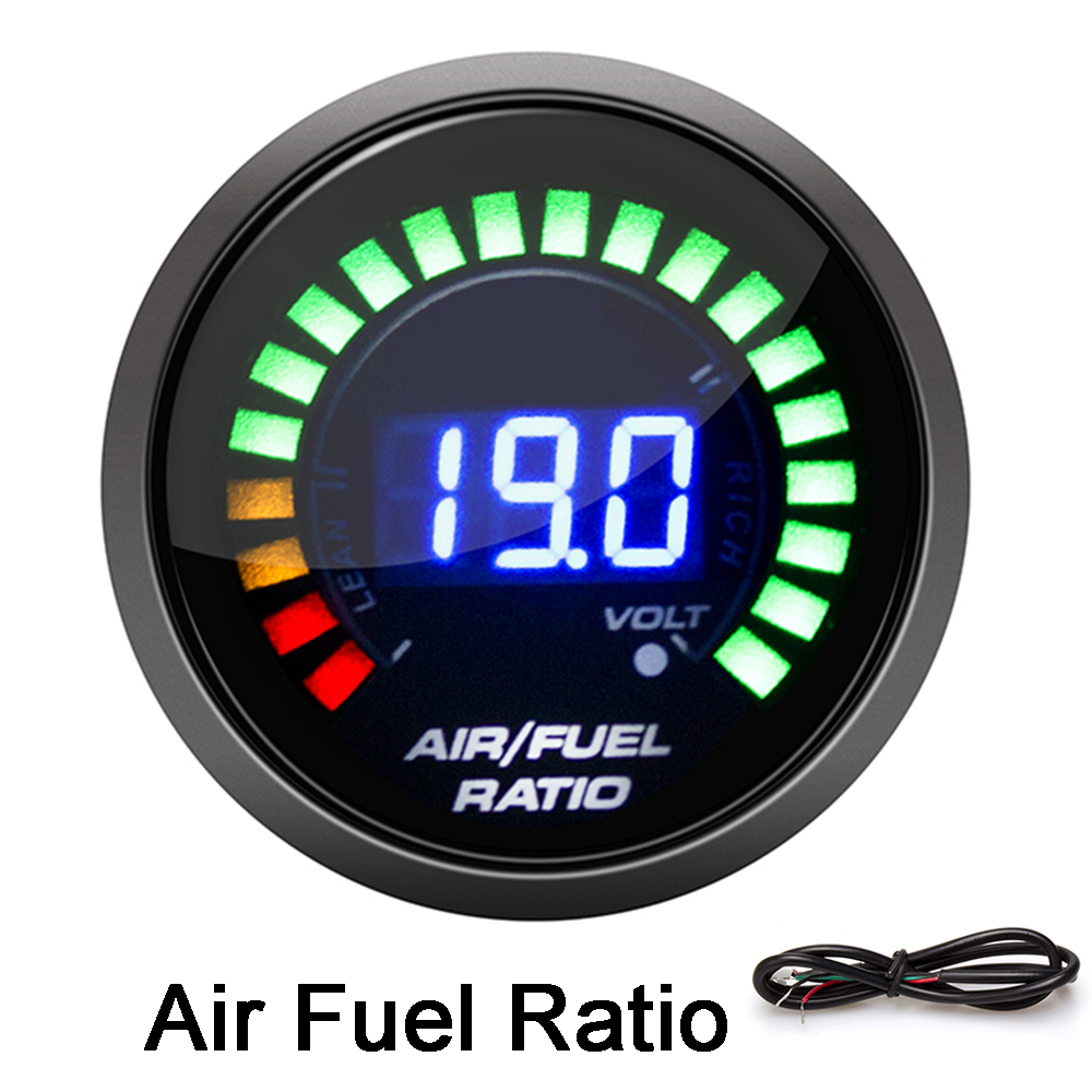 "2/"" 52MM Universal Car Air Fuel Ratio Gauge Blue Digital LED Display Gauge Meter"