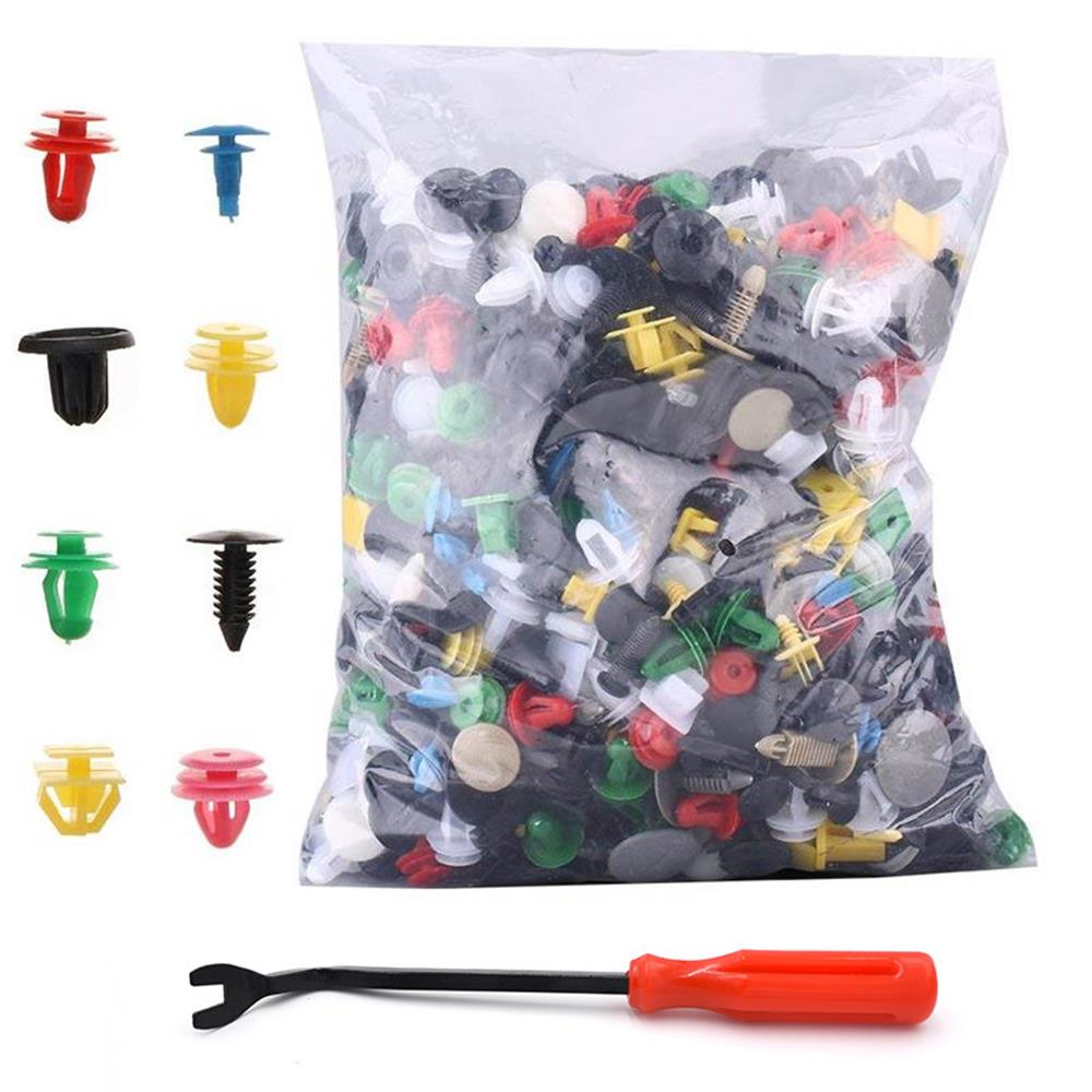 1000pcs Car Body Trim Clip,Assorted Plastic Car Door Trim Clip Bumper Fastener Retainer Rivet Push Pin Kit