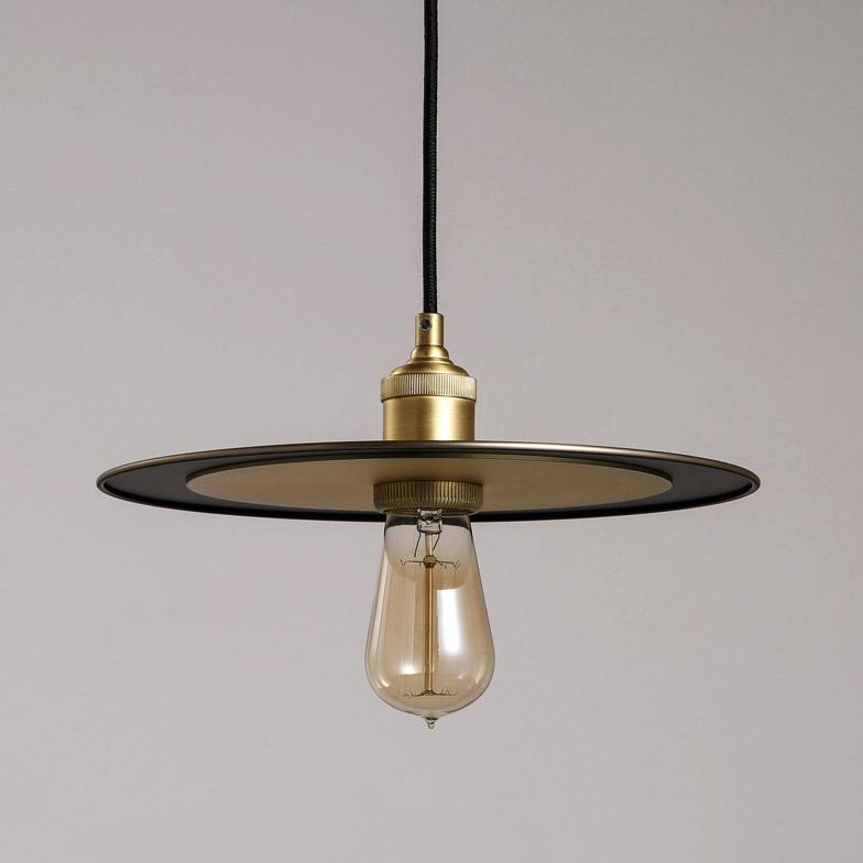 Industrial Metal Flat Shade Single-Light Hanging Pendant