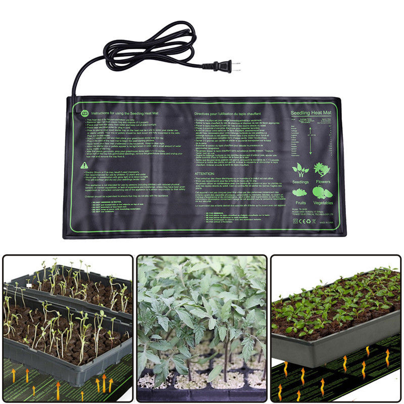 20x10 Seedling Heat Mat Plant Seed Germination Propagation Clone Starter Pad