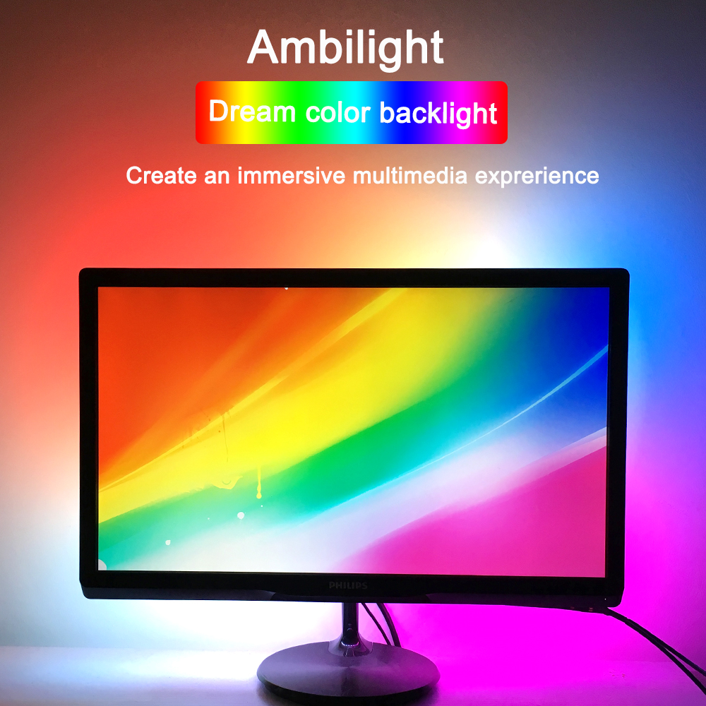 Ambilight TV USB WS2812B led Strip Tape Computer PC Dreem