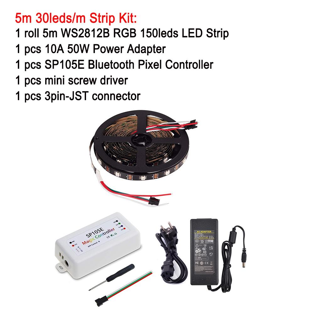 kit WS2812B led kit Controller+5V Power 5m-20m supply set