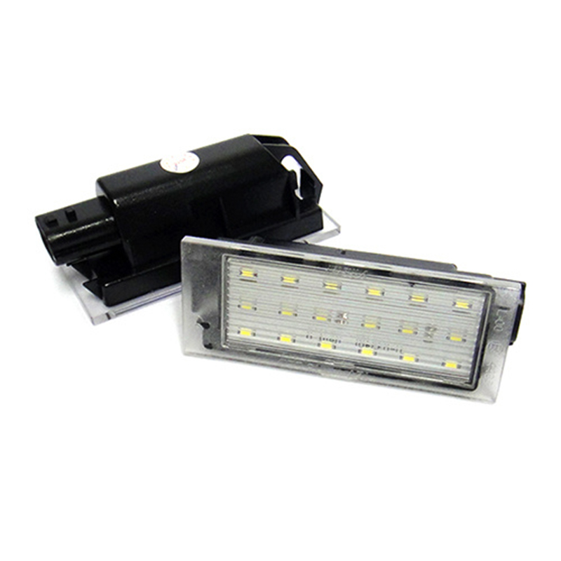 Fits Renault Twingo Ii 2007+ 18 Smd LED Rear Number Licence Plate Units Replac