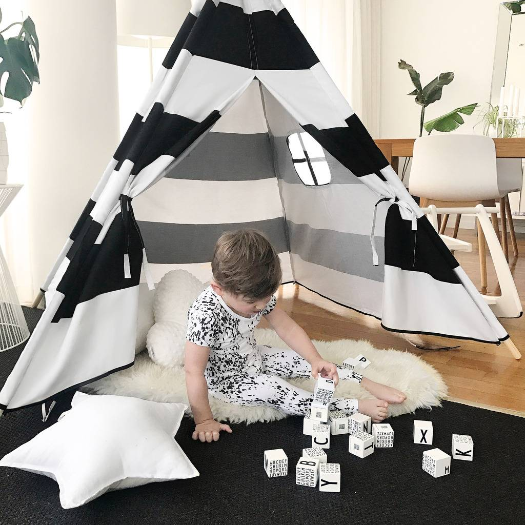 Teepee-Kids-Play-Tent-Large-100-Cotton-Wigwam-Outdoor-Toy-Birthday-Gifts thumbnail 35