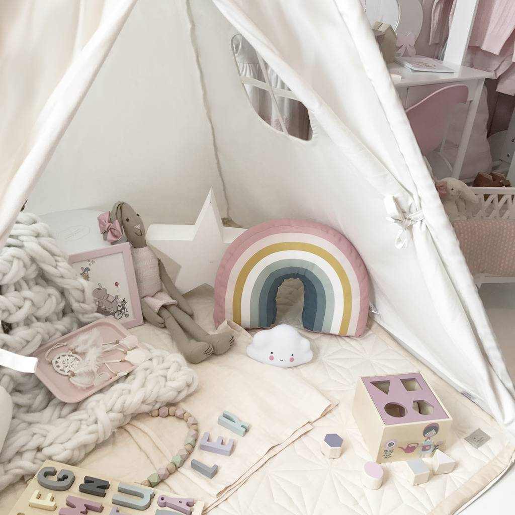 Teepee-Kids-Play-Tent-Large-100-Cotton-Wigwam-Outdoor-Toy-Birthday-Gifts thumbnail 42