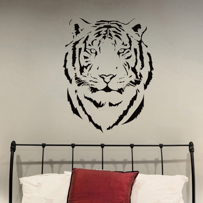 6a1a2d430a415 Details about Tiger African Wild Animal Jungle Vinyl Wall Decal Sticker Kid  Bedroom Home Decor