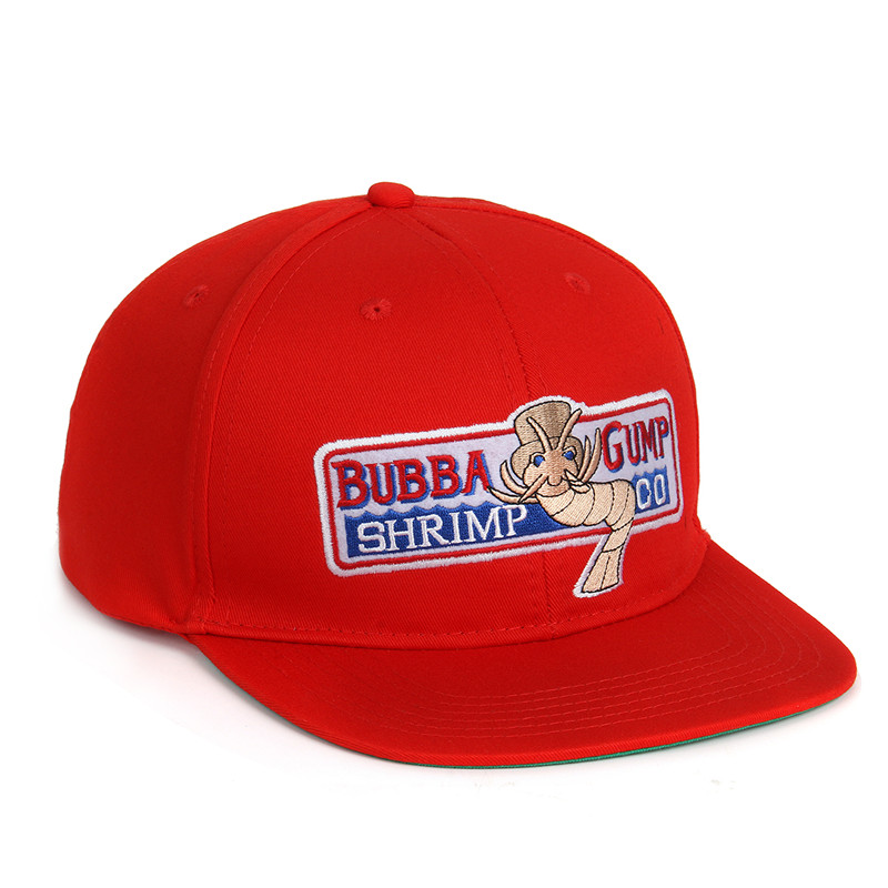 Red Bubba Gump Hat Shrimp Co. Embroidered Forrest Gump Baseball Cap ... c9bb9ae15d66