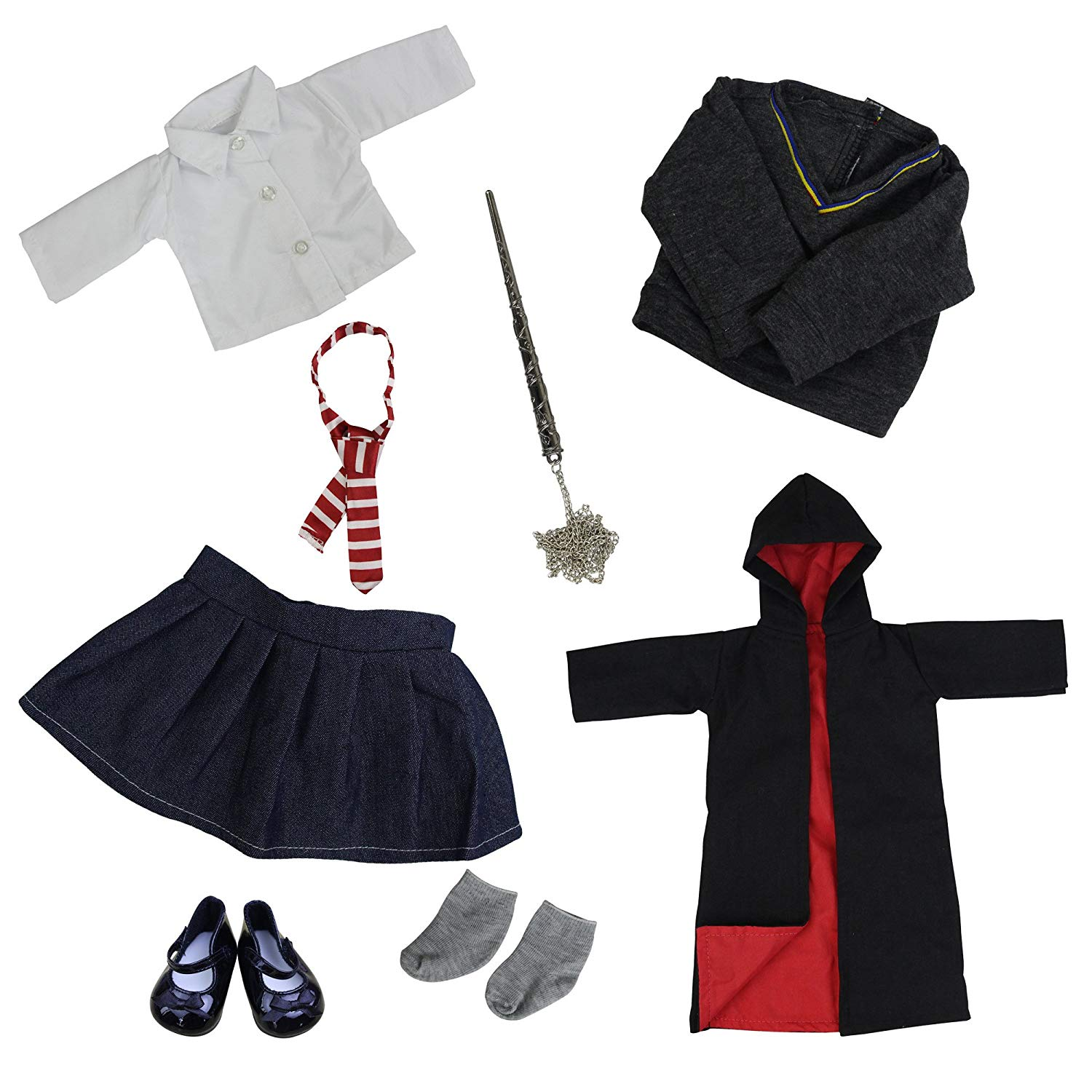 """8X Harry Potter Hogwarts Outfits Handmade dress Clothes Shoes for 18/"""" Girl Doll"""