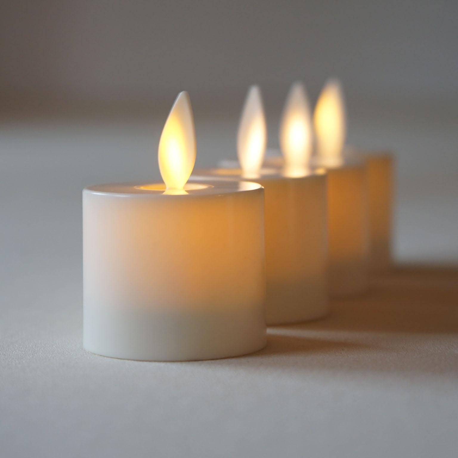 Luminara Flameless LED TeaLight Candles Ivory Real Flame ...