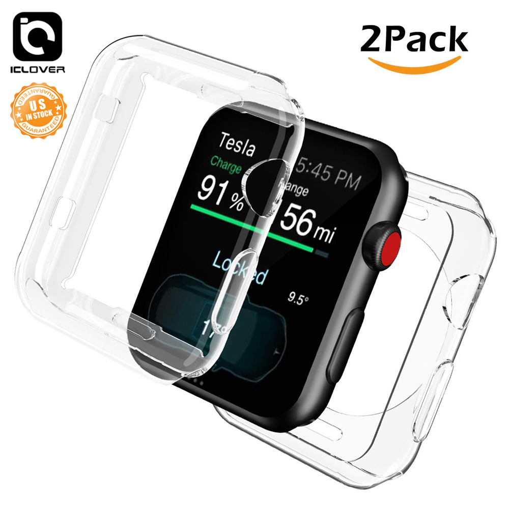 new arrival e8dd8 5ed1d Details about 2 Pack iWatch Bumper Cover+TPU Screen Protector Case For  Apple Watch Series 2 3
