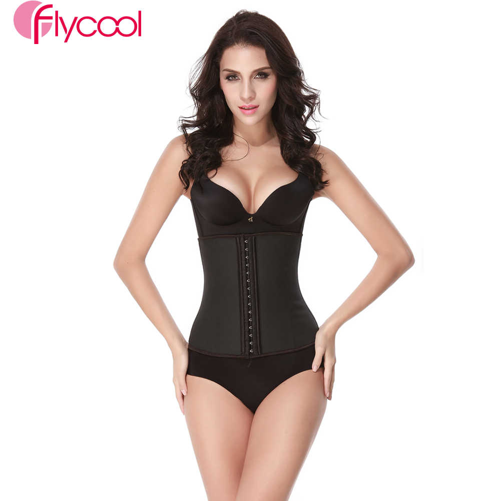 372e6203e7 9pcs Boned Waist Training Corset Underbust Latex Cincher Body Shaper  Shapewear