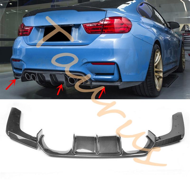 Carbon Fiber V Style Rear Bumper Diffuser for BMW F80 M3 F82 F83 M4