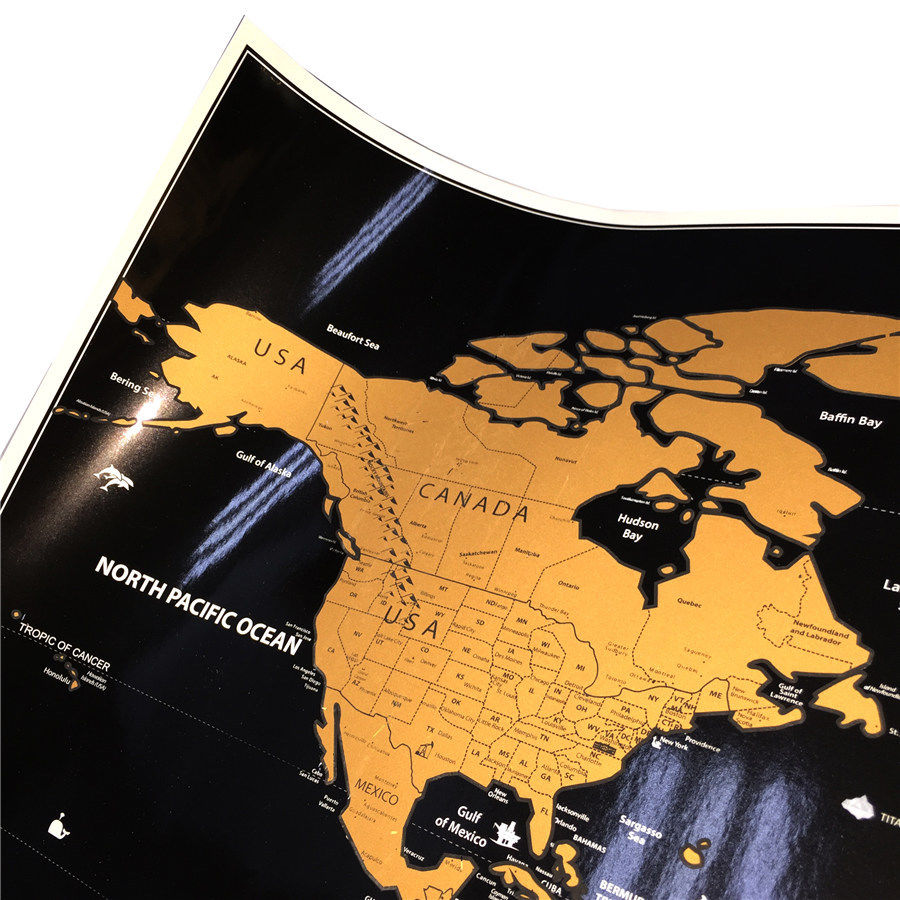 BIG Scratch Off World Map Poster With AU States And Country Flags - Big map of us poster