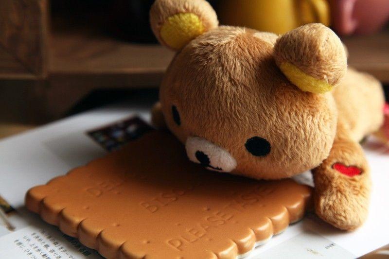New Adorable Plush San-x Rilakkuma Fridge Refrigerator Magnets set Message Clip