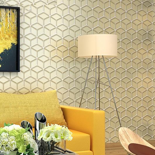 Diamond check 3D Simple modern Wallpaper mural Wall Decor Vinyl ...