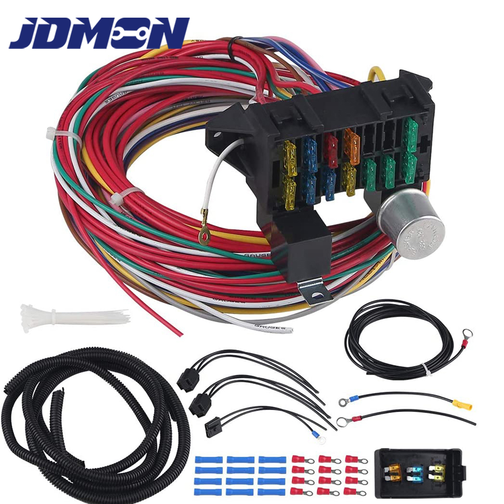 Universal Chevy Gm 12 Circuit Wire Harness Kit Street Hot Manual Guide