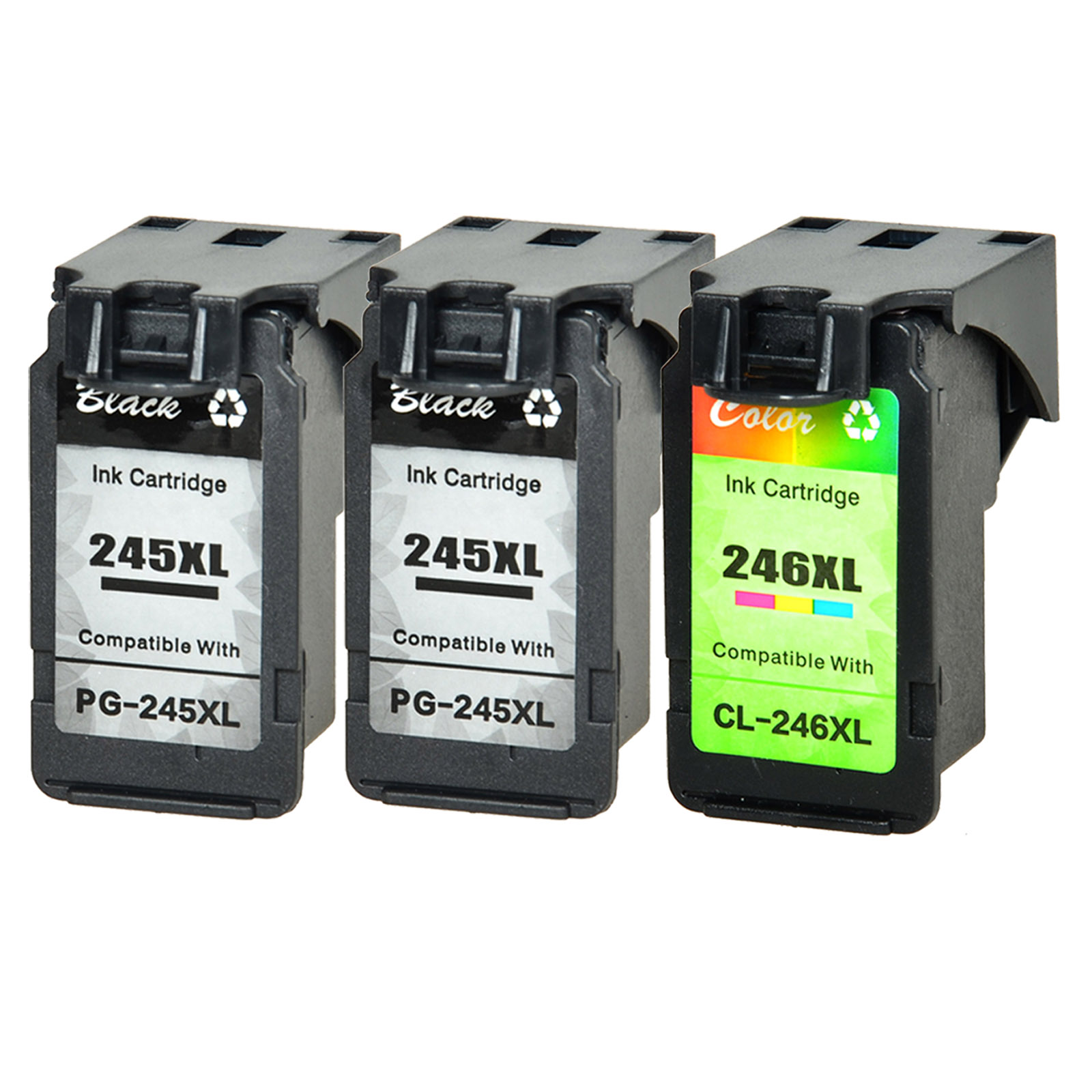 3Pk PG-245XL CL-246XL Black /& Color Ink Cartridge for Canon PIXMA iP2820 MG2420