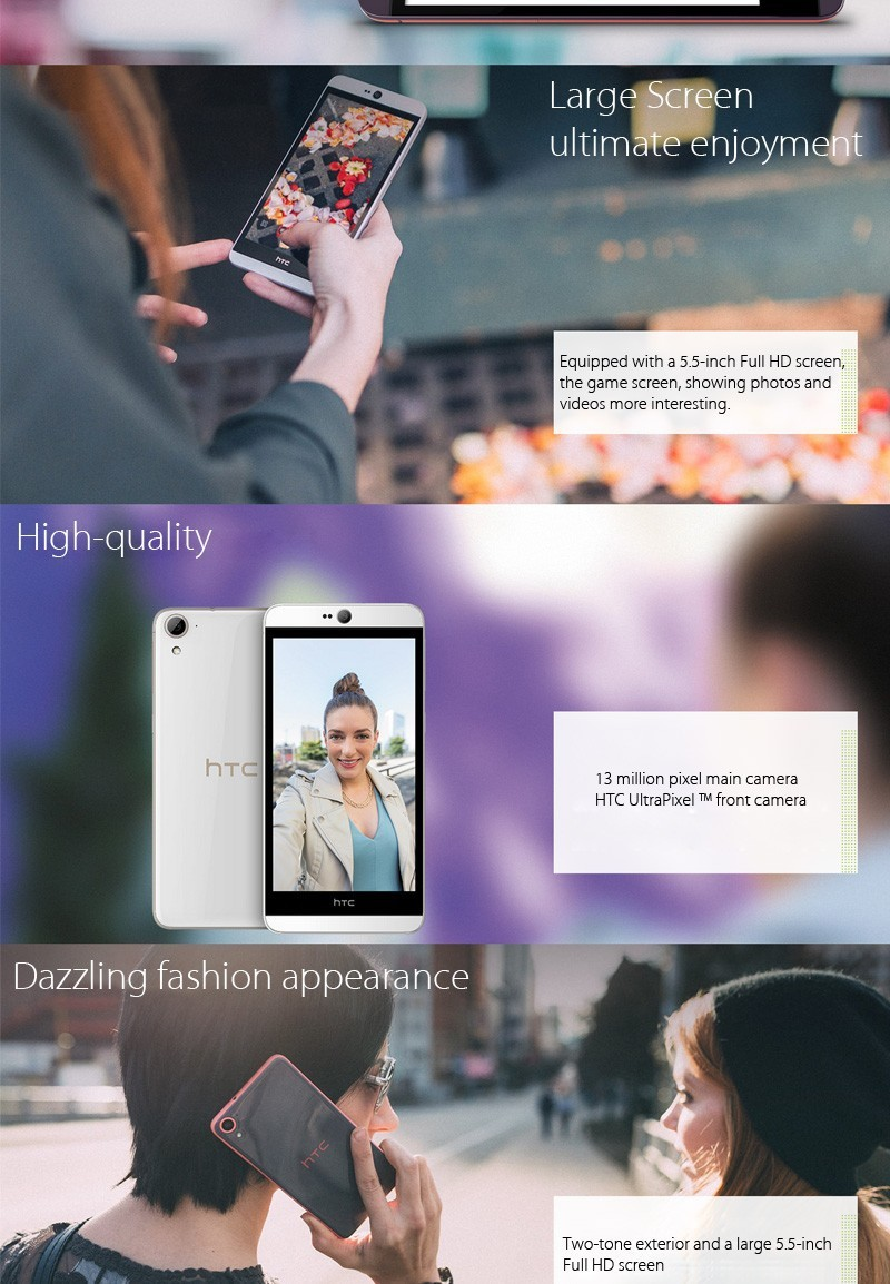 Details about Original HTC Desire 826 Unlocked Dual SIM 3G/LTE 13MP  5 5