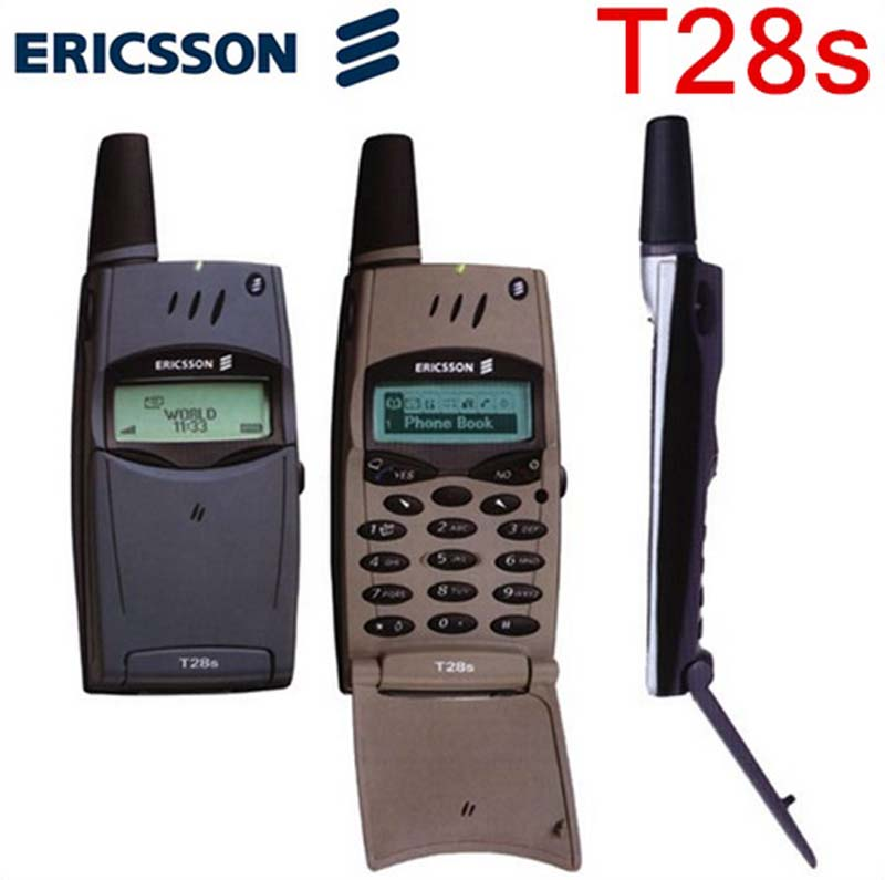 100 original ericsson t28 t28s mobile cell phone 2g gsm 900 1800