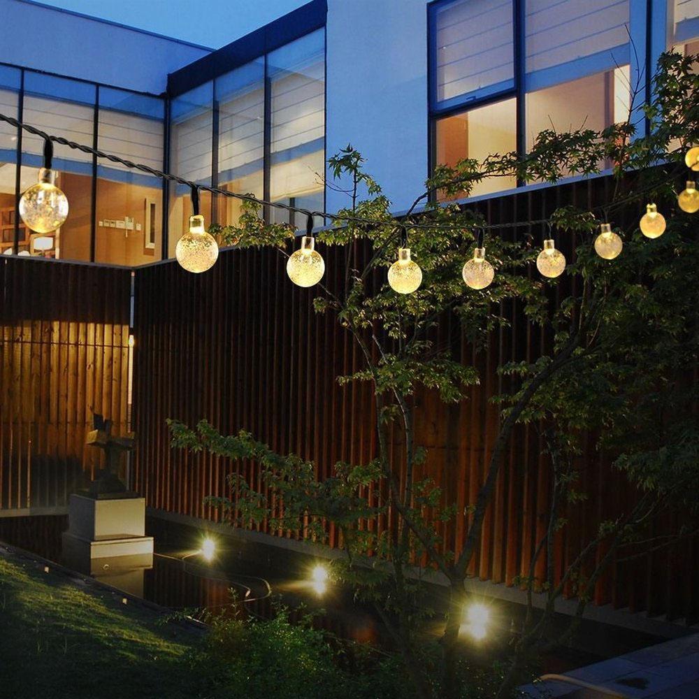 5m 30 led solar lichterkette au en kette weihnachtsbaumkette garten party deko ebay. Black Bedroom Furniture Sets. Home Design Ideas