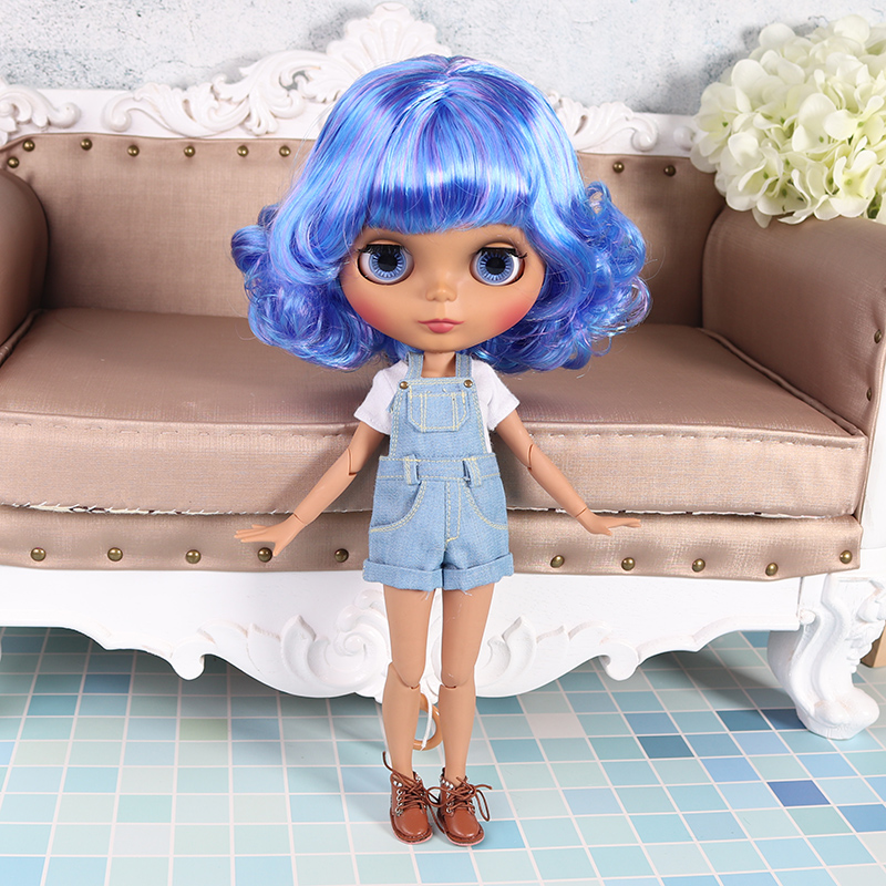 "12/"" Takara Blythe From factory Nude Doll jointed body matte face Green hair"