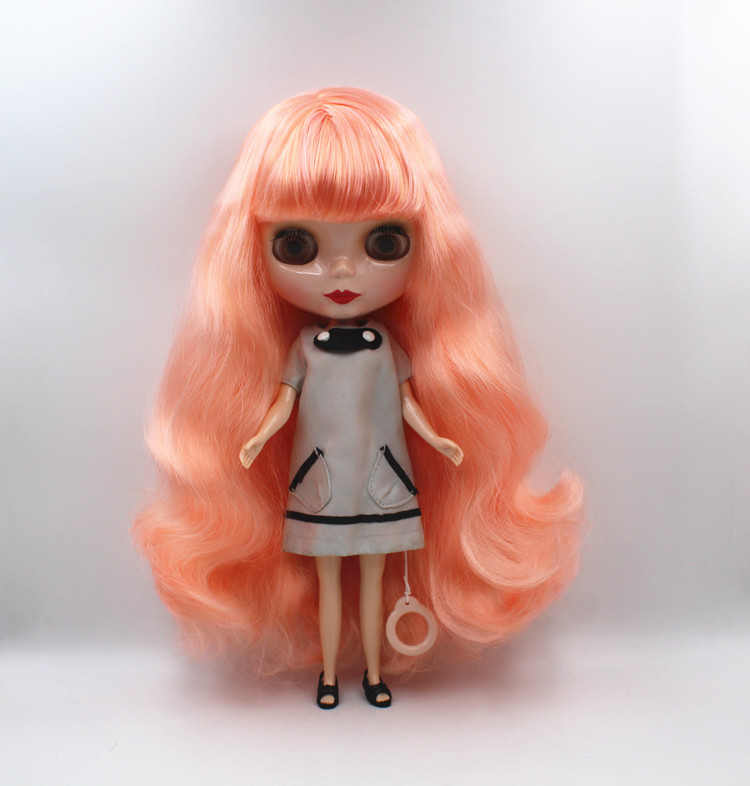 12 Neo Blythe Doll Green + Purple Long Curly Hair from